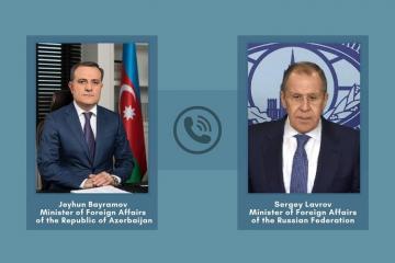 Ceyhun Bayramov Rusiya XİN-in rəhbəri ilə telefonla danışıb