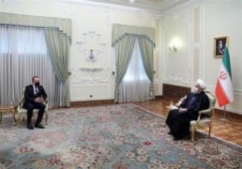 Azərbaycan XİN rəhbəri İran Prezidenti ilə görüşüb