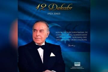 Президент Ильхам Алиев поделился публикацией в связи с годовщиной со дня смерти общенационального лидера Гейдара Алиева