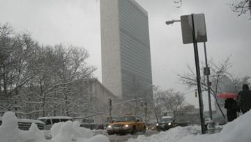 Штаб-квартира ООН в Нью-Йорке закрылась из-за снегопада