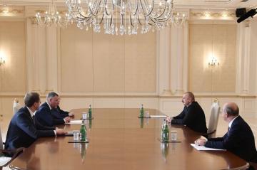 Prezident İlham Əliyev Rusiyanın fövqəladə hallar nazirini qəbul edib