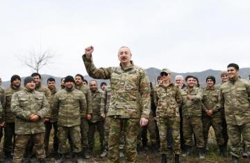 """Azərbaycan Prezidenti: """"Dünyanın aparıcı ölkələrində, ali hərbi məktəblərində bizim döyüş taktikamız öyrənilir"""""""