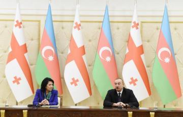 Salome Zurabişvili Azərbaycan Prezidentini təbrik edib