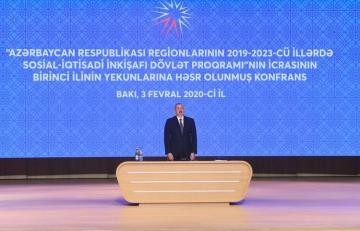 President Ilham Aliyev attends the conference on the results of the first year of implementation of the State Program on socio-economic development of the regions for 2019-2023 - [color=red]UPDATED-1[/color]