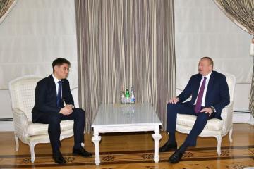 Президент Ильхам Алиев принял министра иностранных дел Кыргызстана