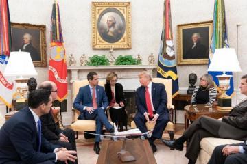 Трамп встретился с Гуаидо в Белом доме