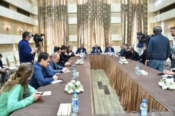 Председатель ЦИК Азербайджана провел брифинг для представителей российских СМИ