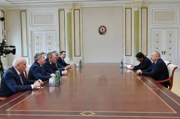 Azərbaycan Prezidenti Rusiya Dövlət Dumasının nümayəndə heyətini qəbul edib