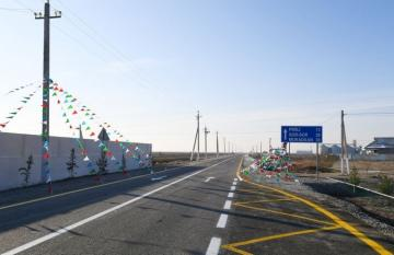 President Ilham Aliyev attends opening of Pirili-Muradkhan-Sor-Sor road after reconstruction