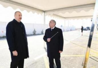 Президент Ильхам Алиев принял участие в церемонии открытия автомобильной дороги в Кюрдамире - [color=red]ОБНОВЛЕНО[/color]