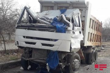 В Геранбое опрокинулся грузовой автомобиль.