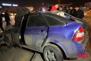 Водитель получил открытую черепно-мозговую травму при ДТП в Баку