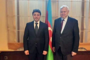 Tural Ganjaliyev meets with Andrzej Kasprzyk