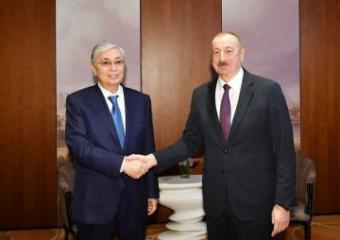 Президент Ильхам Алиев встретился с президентом Казахстана - [color=red]FOTO[/color]