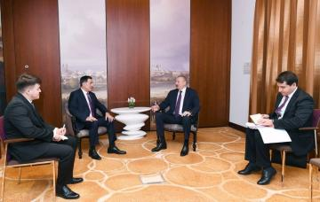 President Ilham Aliyev meets with Secretary-General of the Shanghai Cooperation Organization in Munich
