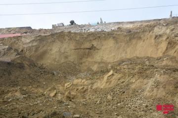 Произошли изменения на поверхности оползневой массы в Падамдаре