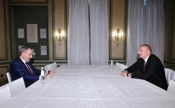 Azerbaijani President Ilham Aliyev is having meeting with Armenian Prime Minister Nikol Pashinyan in Munich