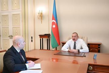 Президент Ильхам Алиев принял председателя правления Бакинского транспортного агентства