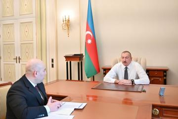 President Ilham Aliyev received chairman of the Board of Baku Transport Agency