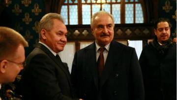 Russian defense chief, commander Haftar talk situation in Libya