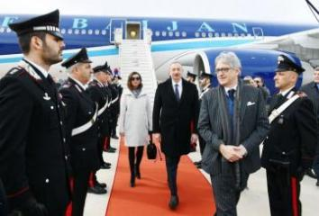 Azerbaijani President embarks on state visit to Italy