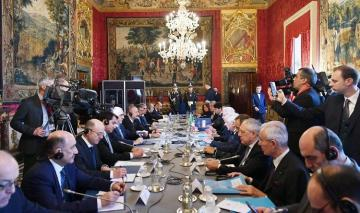 Azerbaijani, Italian presidents held expanded meeting