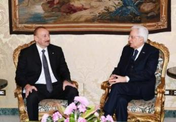 Azərbaycan və İtaliya Prezidentlərinin görüşü olub