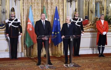 Ильхам Алиев: Италия и Азербайджан уважают и поддерживают территориальную целостность друг друга