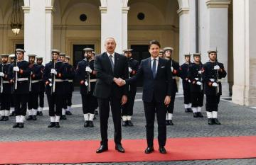 President Ilham Aliyev meets with Chairman of the Council of Ministers of Italy Giuseppe Conte