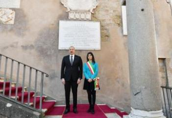 Azerbaijani President meets with Mayor of Rome  - [color=red]PHOTO[/color]