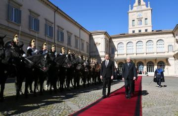 Azərbaycan Prezidentinin Romada rəsmi yolasalma mərasimi olub