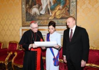 Birinci vitse-prezident Mehriban Əliyeva Vatikanda Papa Cəngavər Ordeninin ən ali dərəcəsinə layiq görülüb