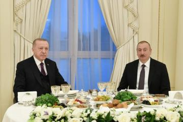 President Ilham Aliyev hosted reception in honor of Turkish President Recep Tayyip Erdogan