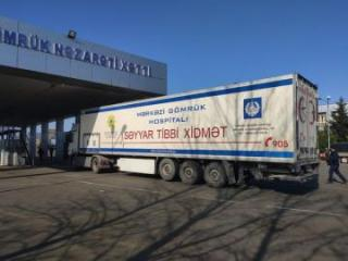 Mobile traveling hospital starts to provide services at Bilesuvar customs border crossing station