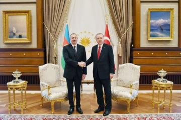 Azerbaijani President congratulates Turkish counterpart on birthday