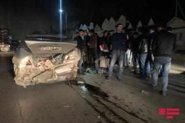 На шоссе Баку-Сумгайыт произошло ДТП, есть пострадавший - [color=red]ФОТО[/color]