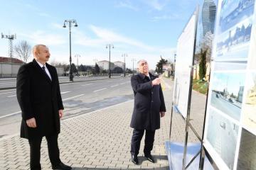 Президент Ильхам Алиев принял участие в открытии подземного пешеходного перехода в Баку