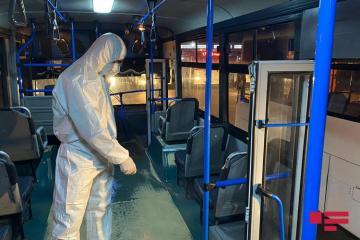 Bakı kəndlərinə gedən marşrut avtobusları dezinfeksiya edilib - [color=red]FOTO[/color]