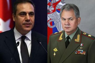 Russian Defense Minister holds telephone talks with Turkish national intelligence chief