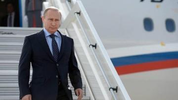 Путин прилетел в Стамбул