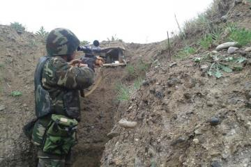 Armed forces of Armenia violated ceasefire 21 times throughout the day by using sniper rifles