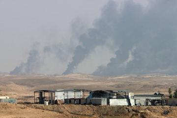 """KİV: """"Ayn əl-Əsəd"""" bazasına atılmış raket zərbələri nəticəsində bir neçə iraqlı xəsarət alıb"""