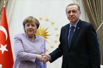 Ərdoğanla Merkel növbəti dəfə Suriya, Liviya, habelə ABŞ-İran məsələlərini müzakirə ediblər
