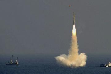 Индия испытала баллистическую ракету для подлодок