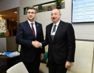President Ilham Aliyev met with Croatian Prime Minister