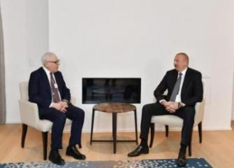 President Ilham Aliyev met with founder and Co-Executive Chairman of Carlyle Group in Davos