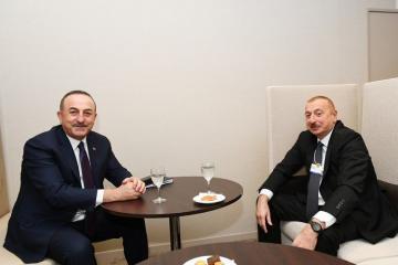 Президент Азербайджана встретился с главой МИД Турции в Давосе