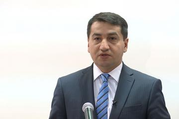 """Hikmət Hacıyev: """"Avropa İttifaqı ilə yeni sazişin 90 faiz hissəsi razılaşdırılıb"""""""