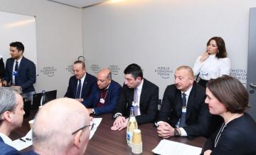 Президент Ильхам Алиев принял участие в заседании в рамках Всемирного экономического форума