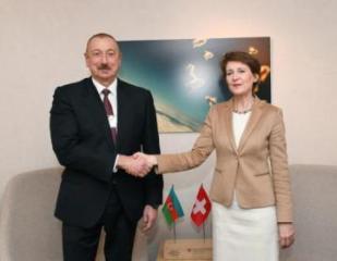 Президент Ильхам Алиев встретился с президентом Швейцарии - [color=red]ФОТО[/color]